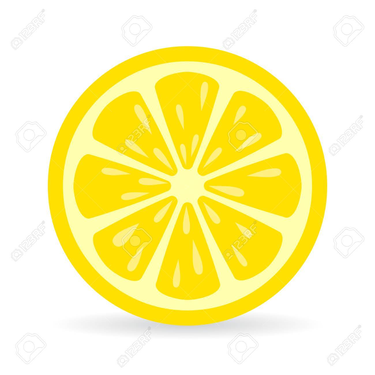 lemon slice vector icon royalty free cliparts vectors and stock rh 123rf com