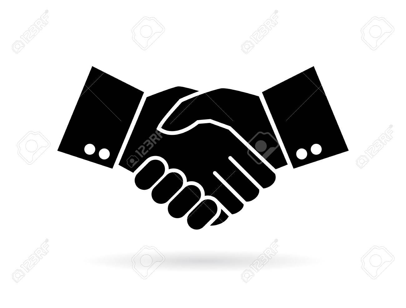 hand shake silhouette vector icon royalty free cliparts vectors rh 123rf com shaking hands vector png shaking hands vector free download