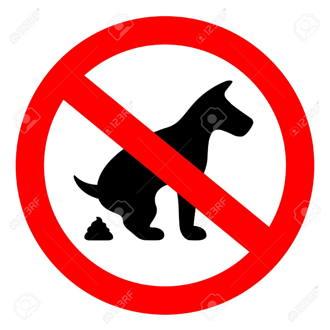 Dog Pooping Clipart
