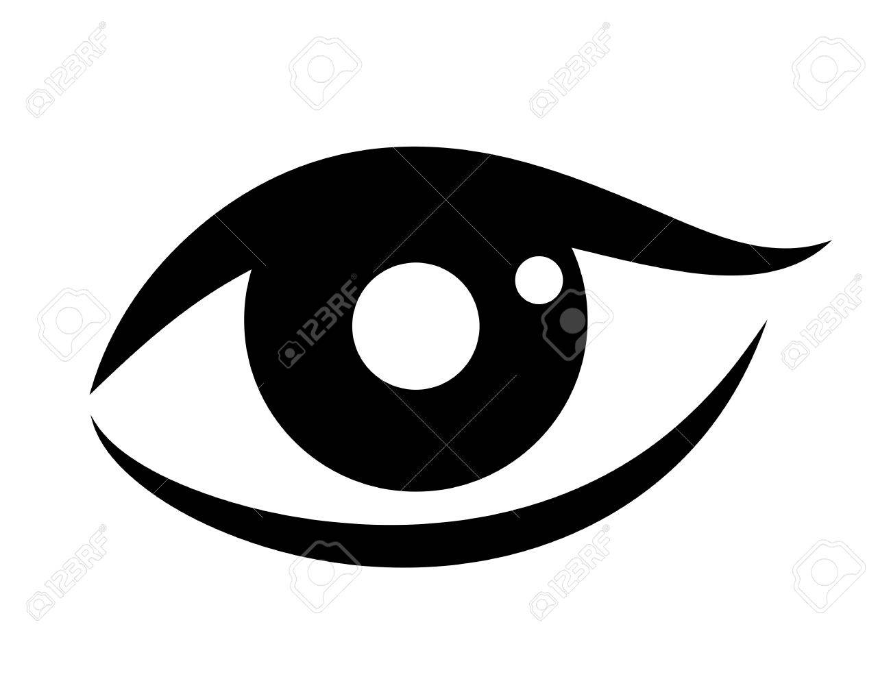 woman eye vector icon royalty free cliparts vectors and stock rh 123rf com vector eye centre vector eye silhouette