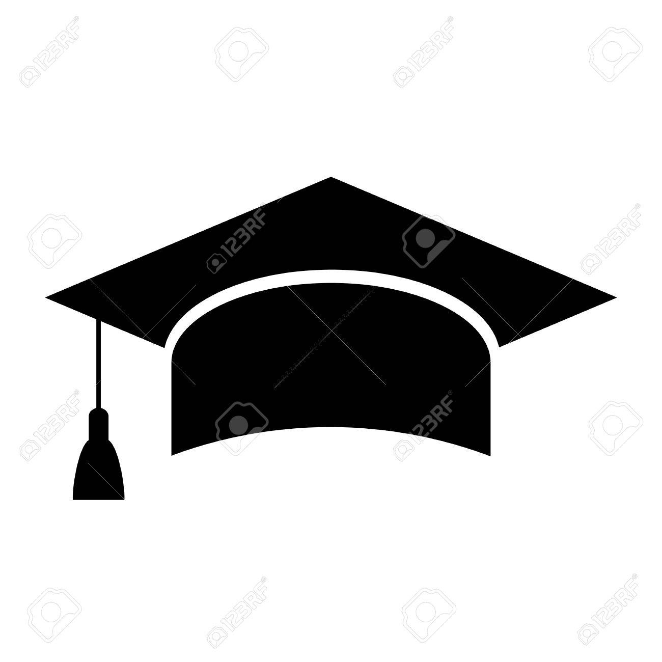 mortarboard academic cap education icon royalty free cliparts