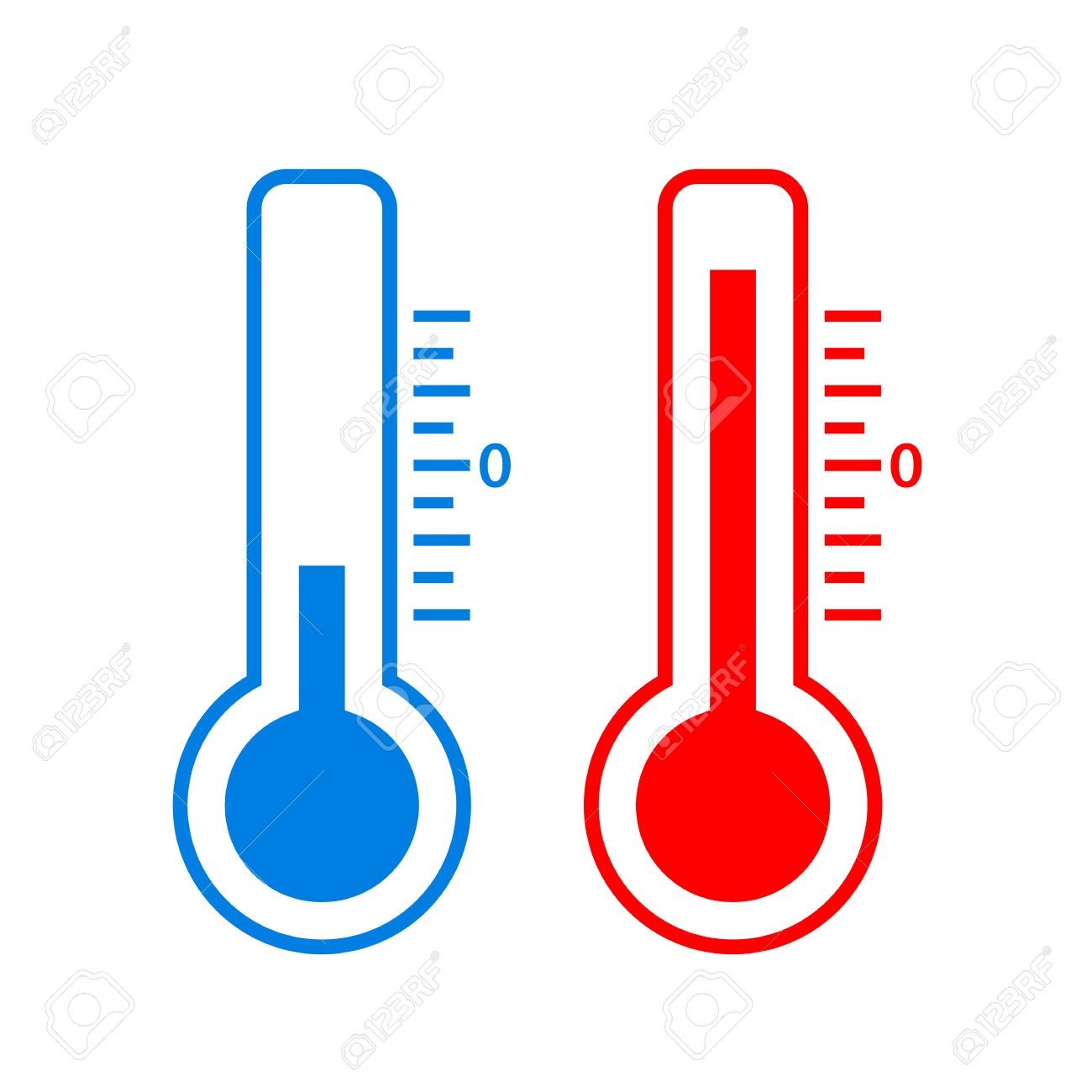 Cold And Hot Temperature Vector Icon Stock Vector