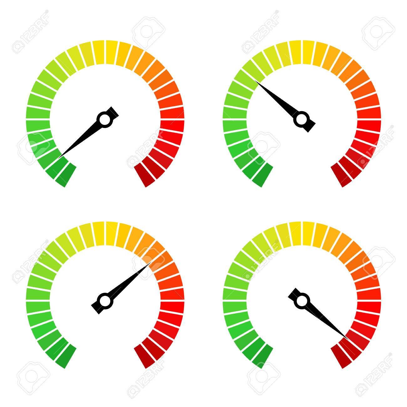 Round speed progress bar vector icon set - 77298230
