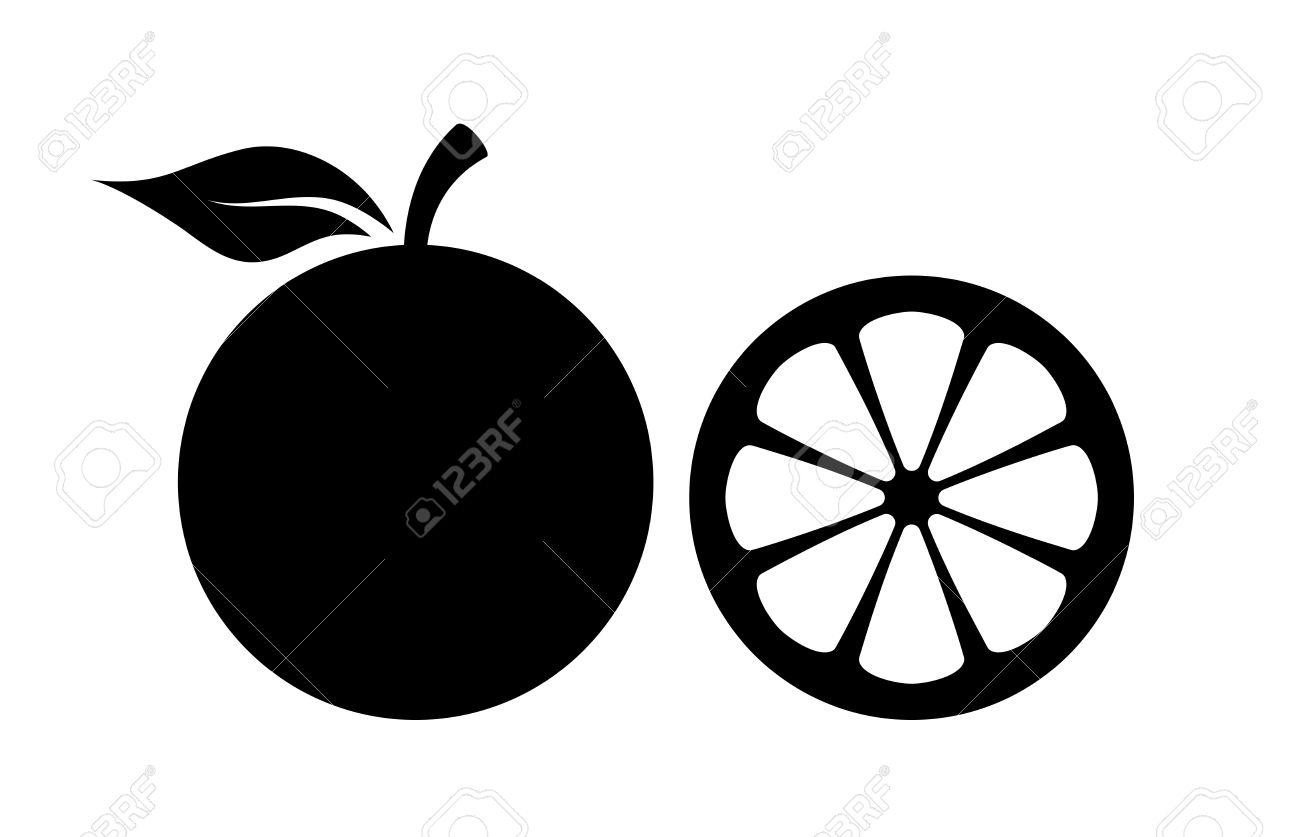Orange silhouette vector icon - 80089572