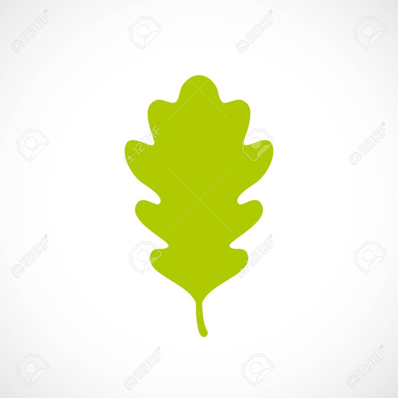 green fresh oak leaf icon royalty free cliparts vectors and stock rh 123rf com oak tree leaf vector oak leaf vector free download