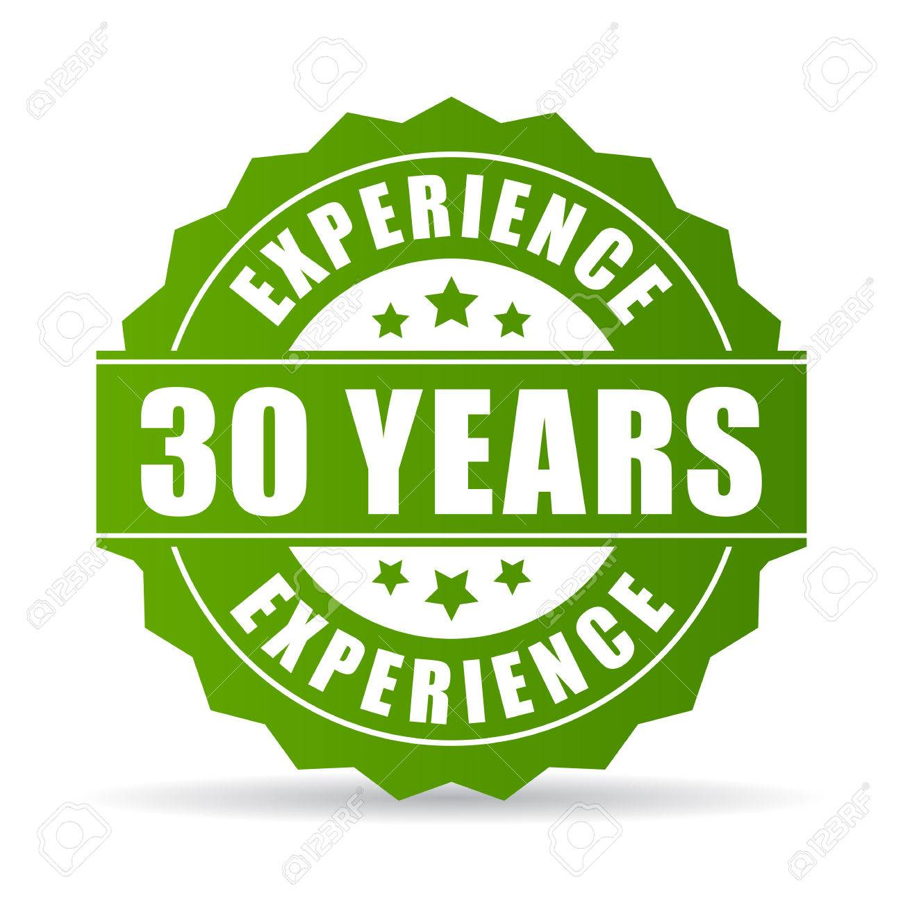30 years experience vector icon - 82369917