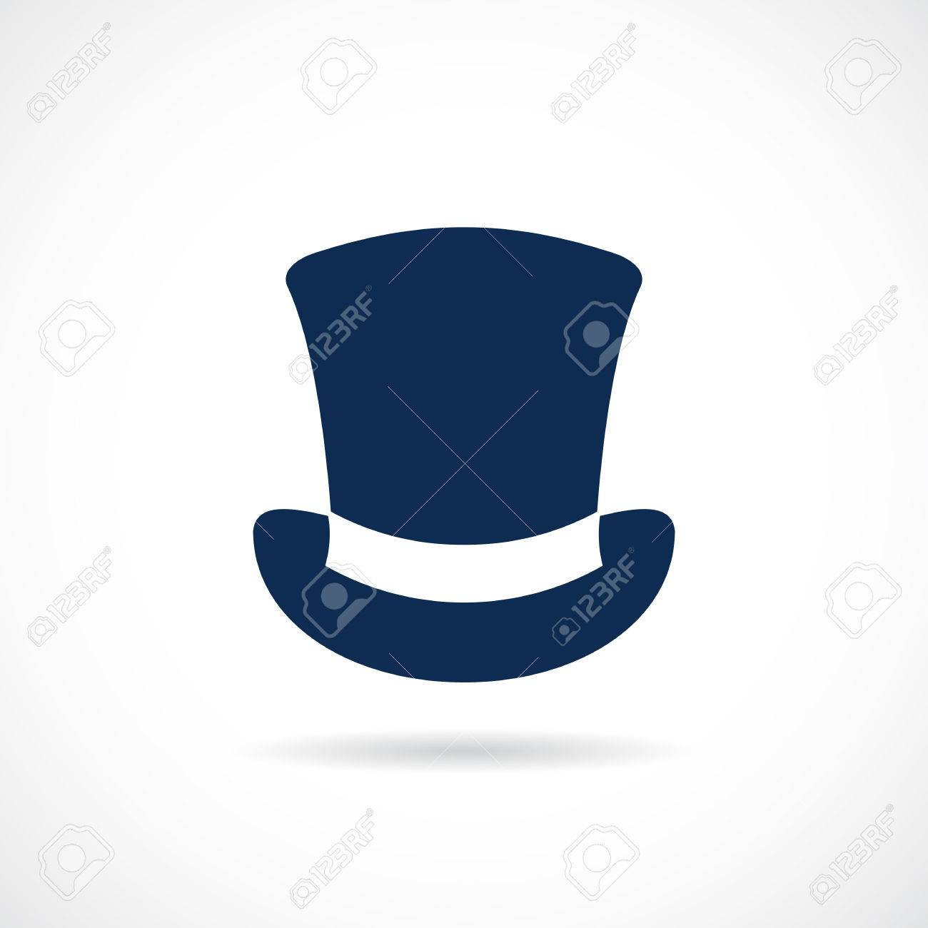 Old top hat vector icon Stock Vector - 84440545 fdbfeb727ad