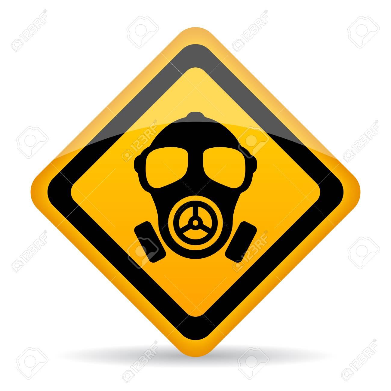Chemical danger warning sign - 87354064