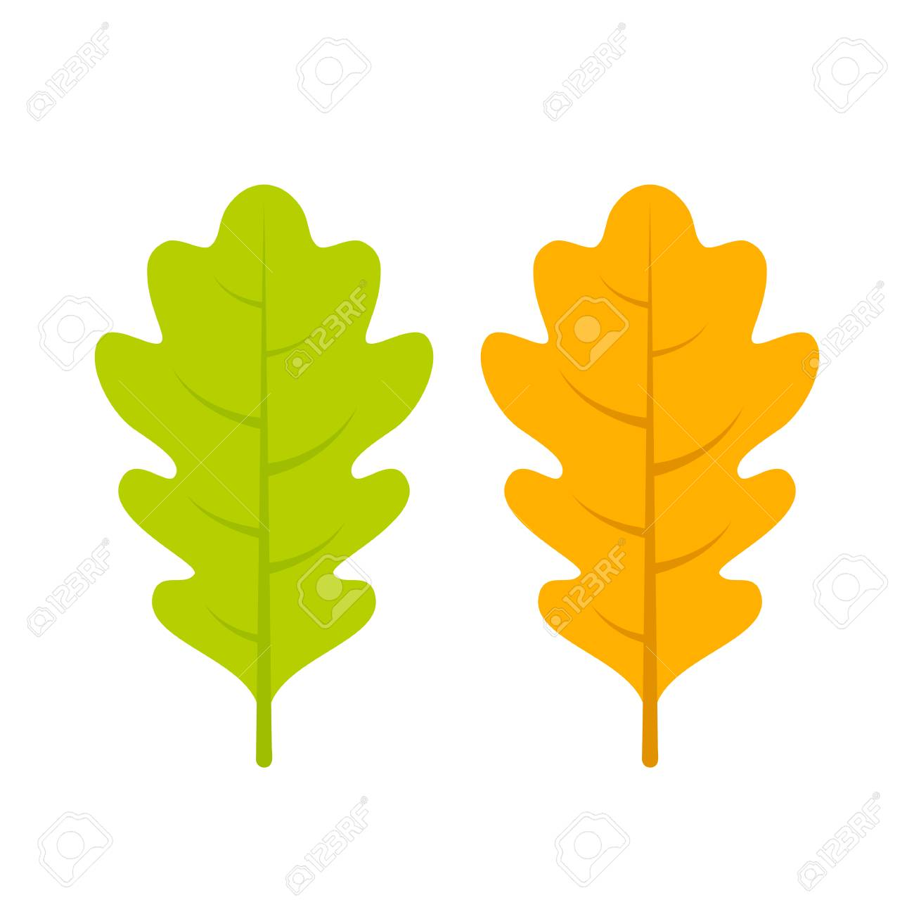 yellow and green oak leaf vector icon royalty free cliparts vectors rh 123rf com oak leaf vector file oak leaf vectorial