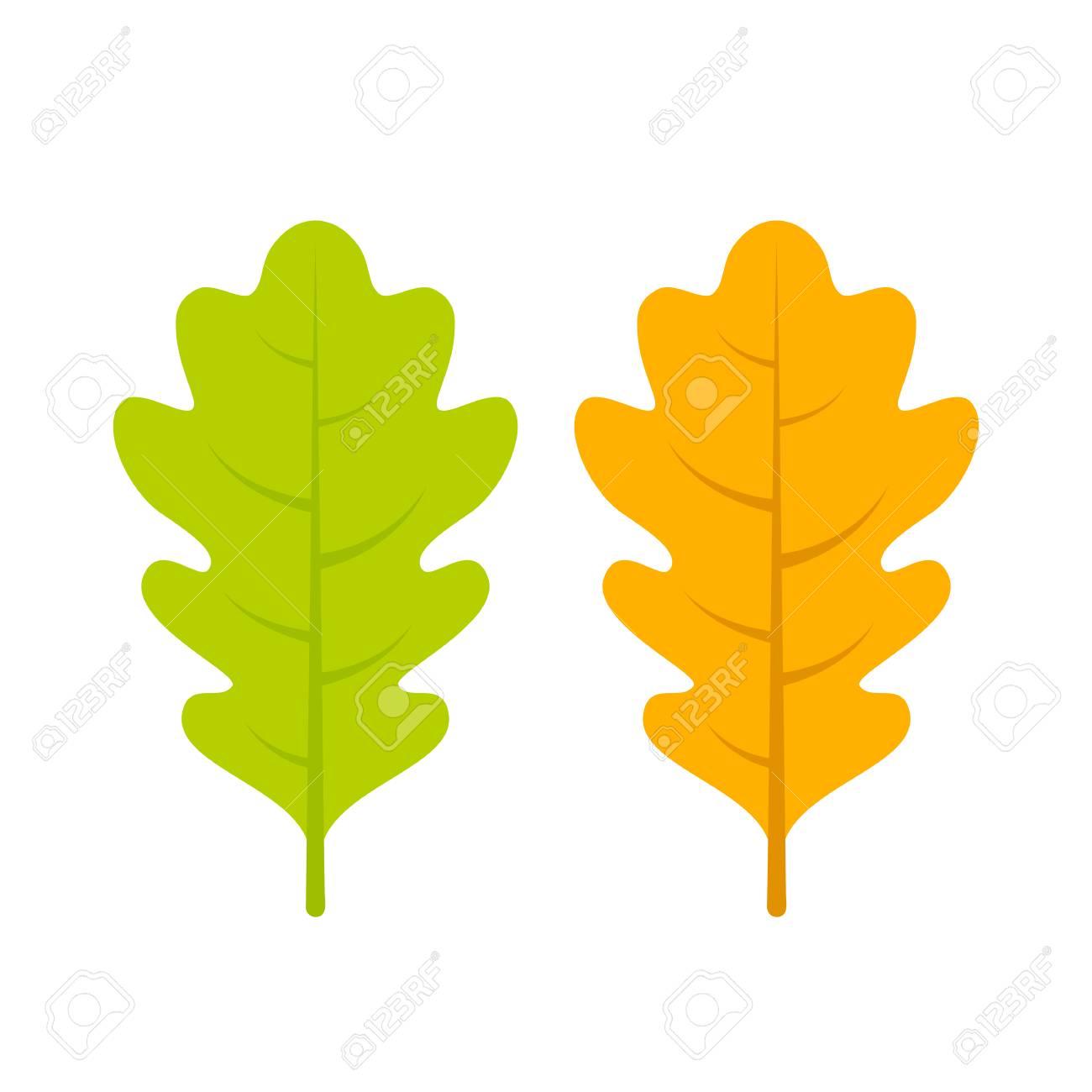 yellow and green oak leaf vector icon royalty free cliparts vectors rh 123rf com oak leaf wreath vector oak leaf wreath vector