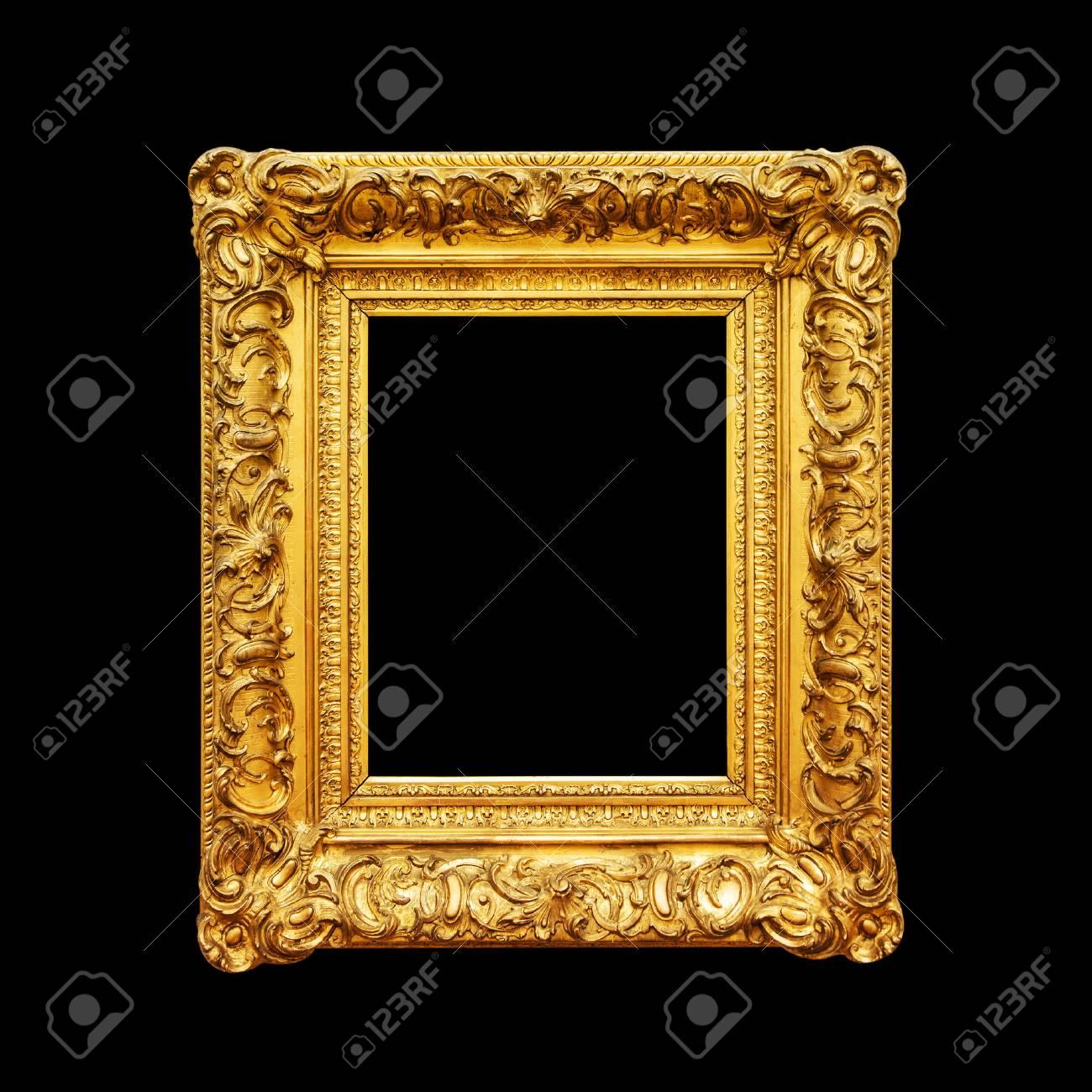 5f8d19e31550 Luxury ornate portrait frame isolated on black background Stock Photo -  88066206