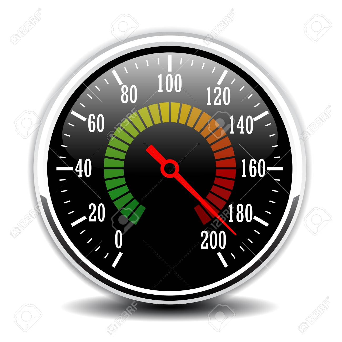 Car speedometer design vector illustration - 88992575