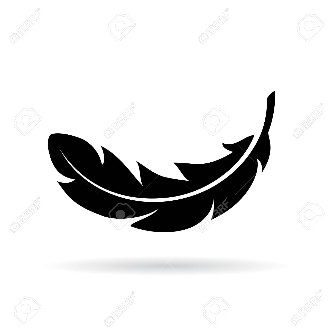 feather vector icon royalty free cliparts vectors and stock rh 123rf com feather vector free download feather vector free download