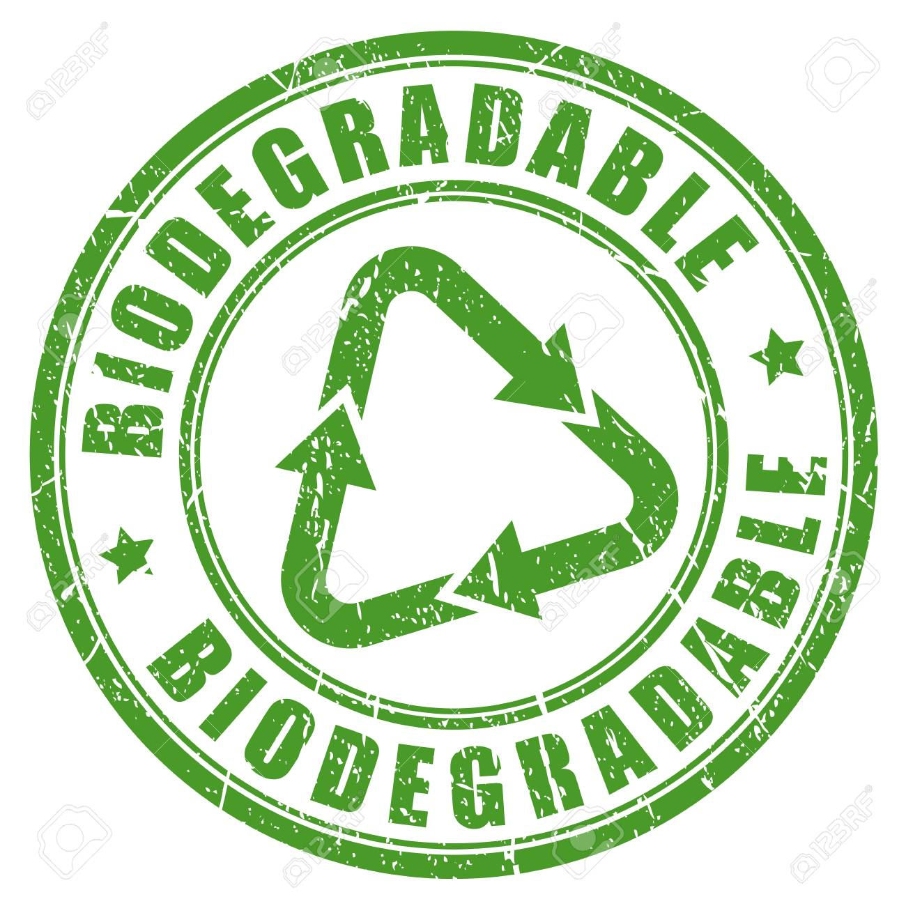 Biodegradable green rubber stamp - 89089278