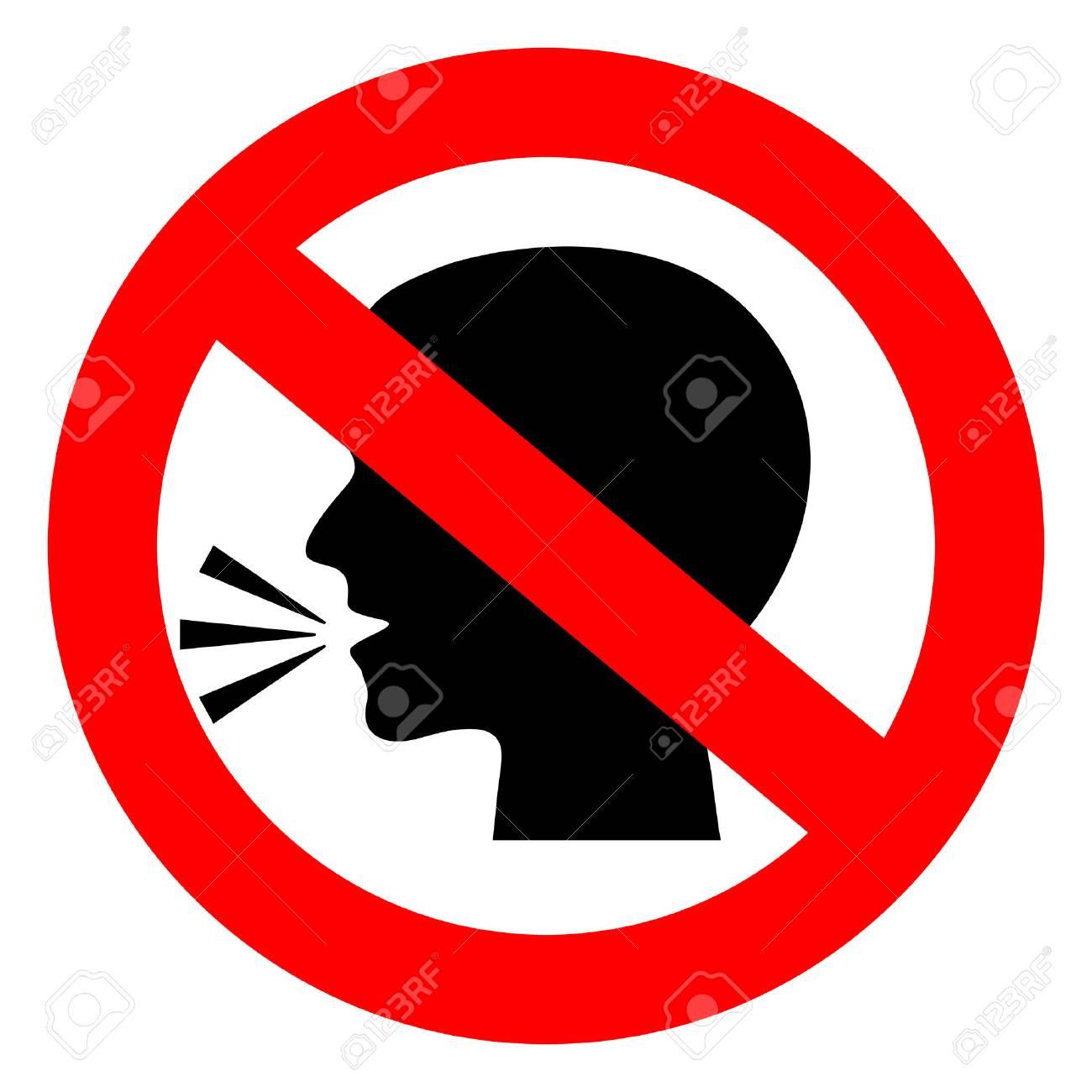 Stop talking vector sign - 90002544