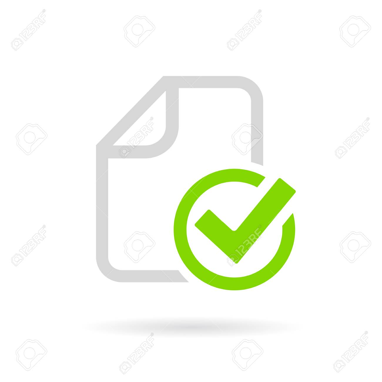 Paperwork completed vector pictogram - 90013037