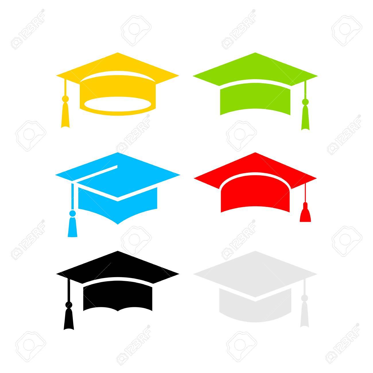 Six color graduation hats - 90026023