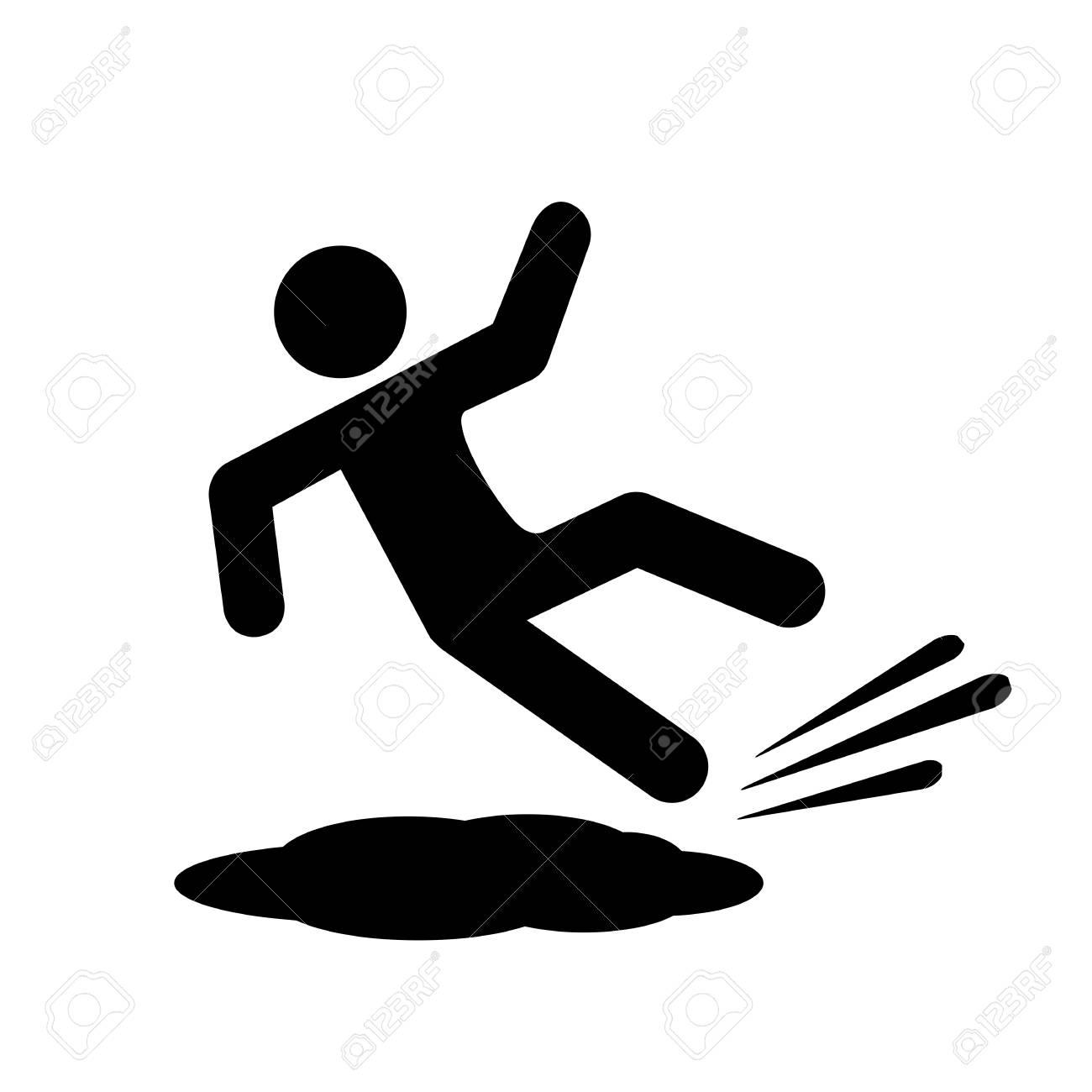 Slippery floor vector icon - 90793128