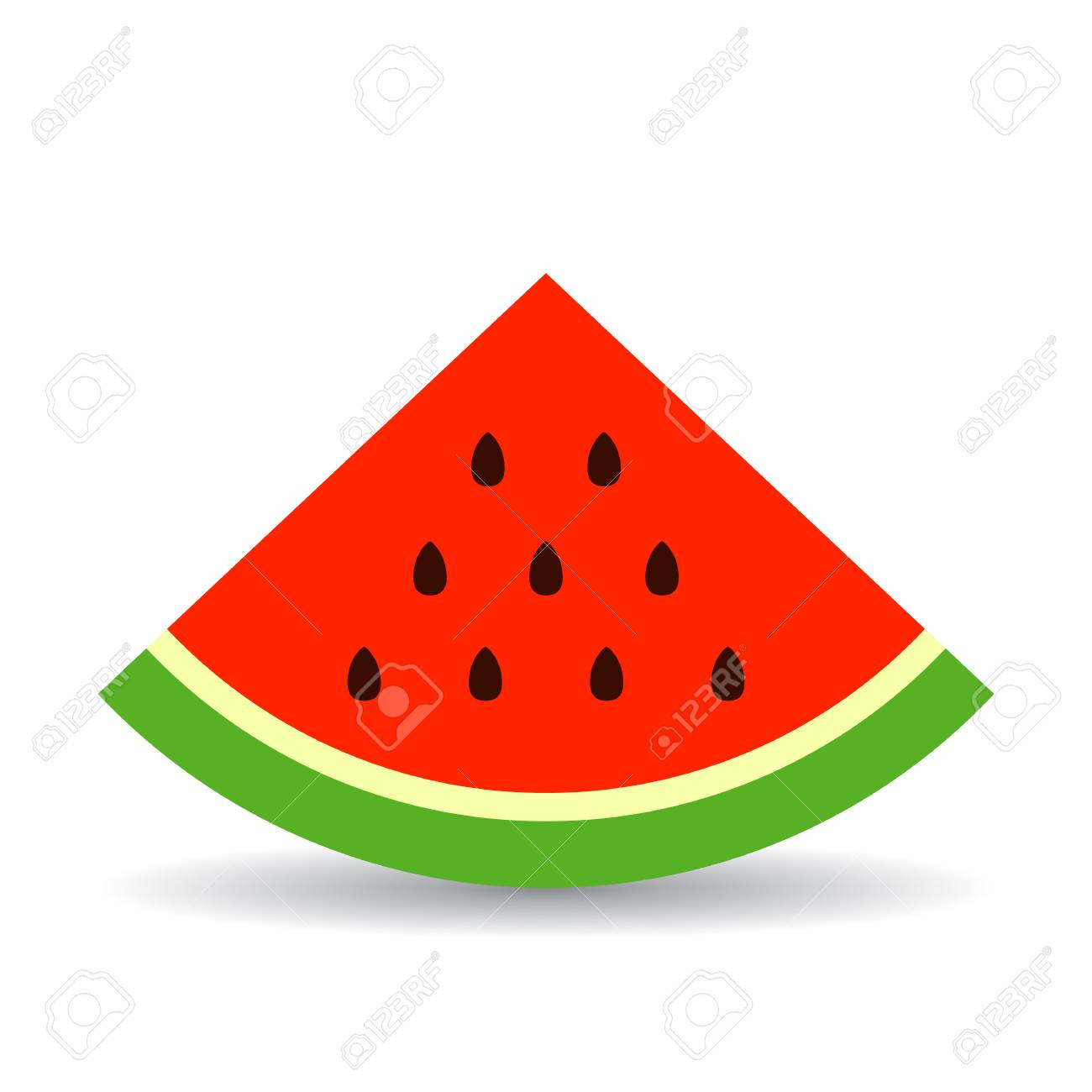 triangle piece of watermelon vector icon royalty free cliparts rh 123rf com watermelon vector black and white watermelon vectorial