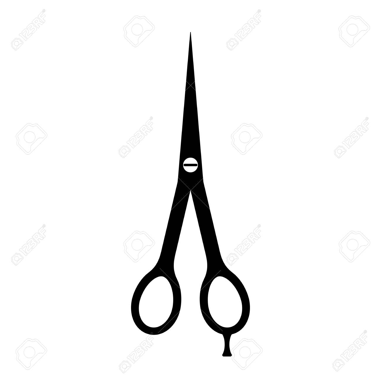 Dünne Friseur Schere Vektor Symbol Lizenzfrei Nutzbare