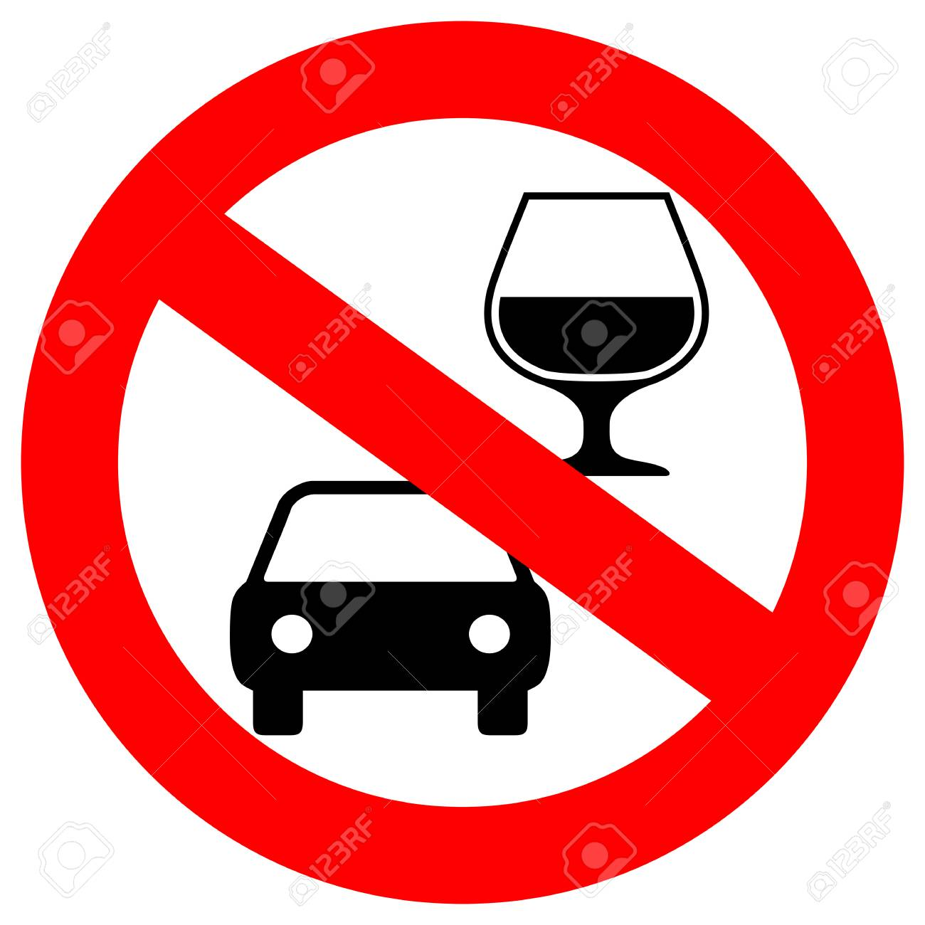No drink and drive vector sign - 95306053