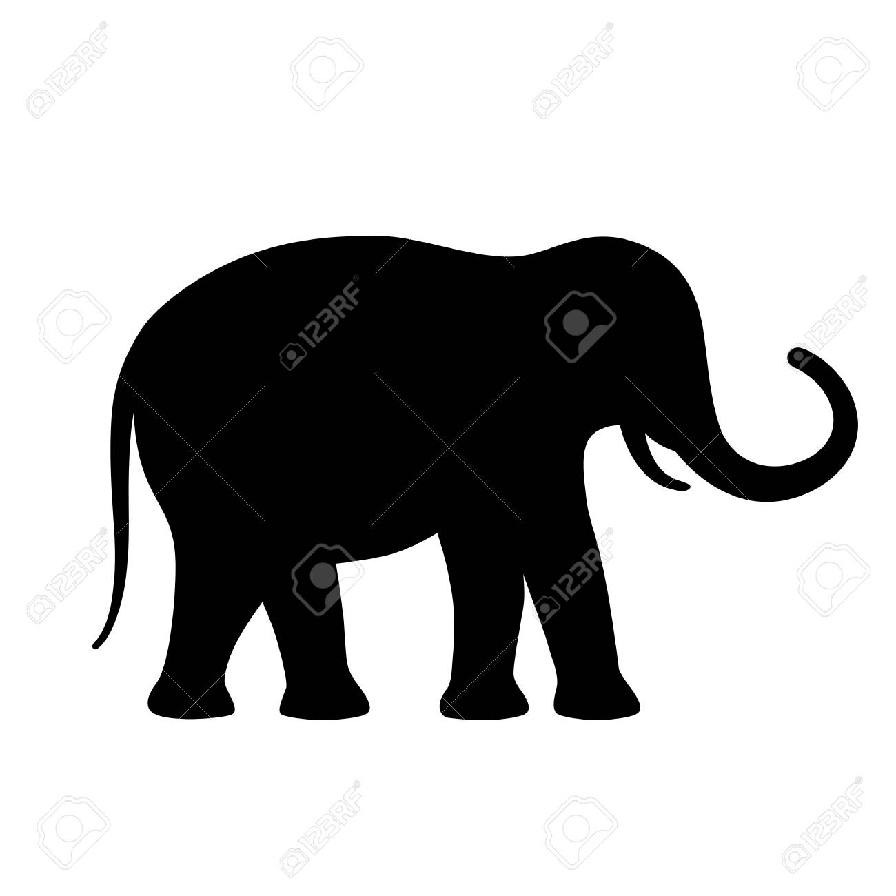 elephant vector silhouette icon royalty free cliparts vectors and rh 123rf com elephant vector free download elephant vector images