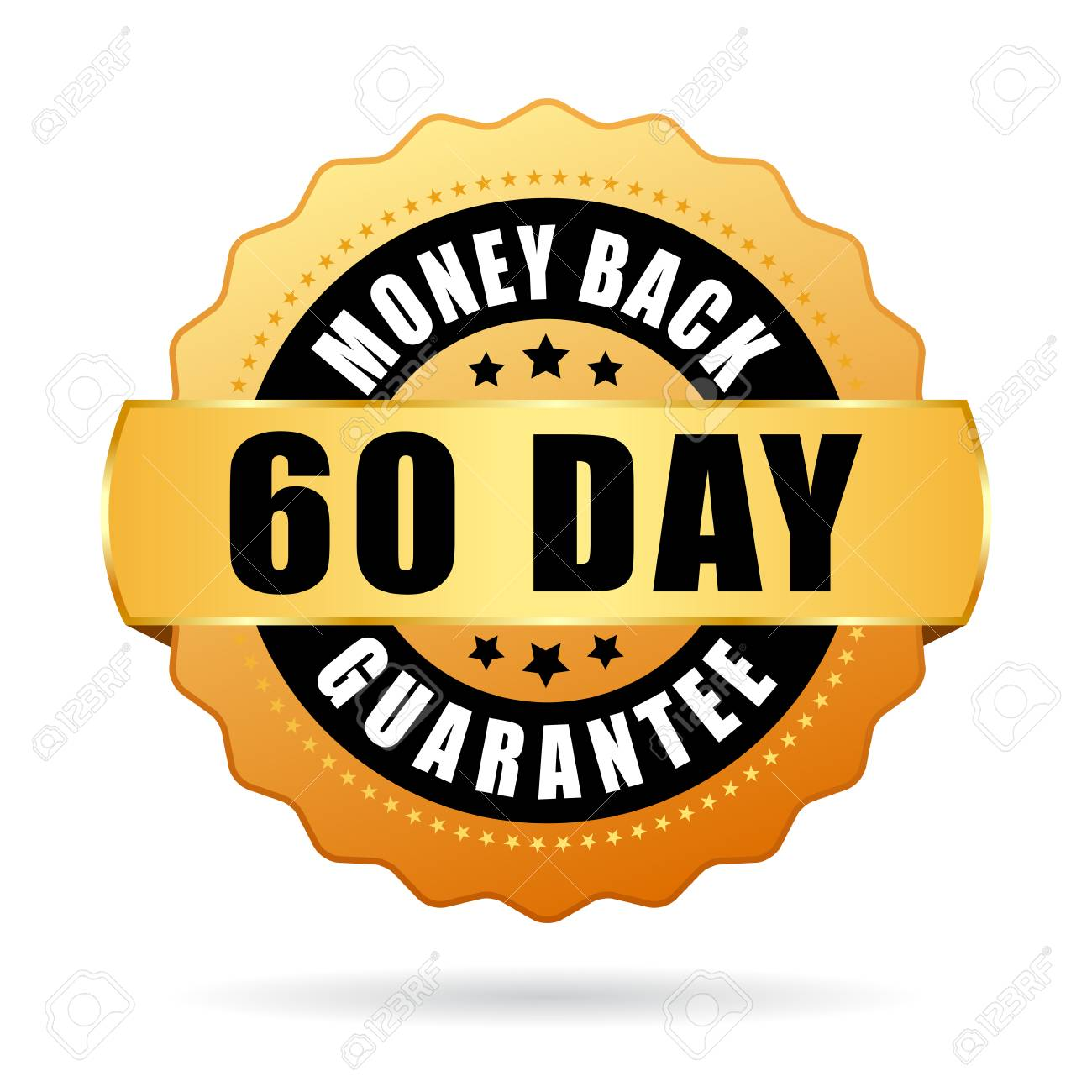 60 Day Money Back Guarantee Vector Icon Royalty Free Cliparts, Vectors, And  Stock Illustration. Image 98713810.