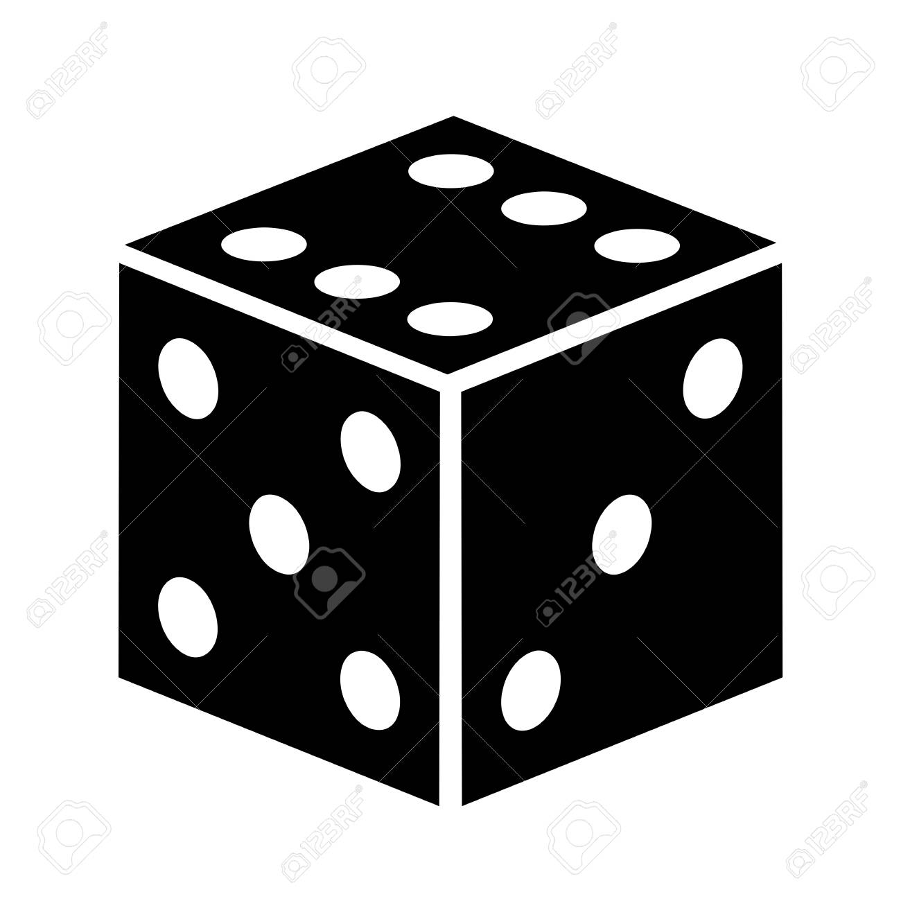 dice vector icon royalty free cliparts vectors and stock rh 123rf com dice vector eps dice vector images