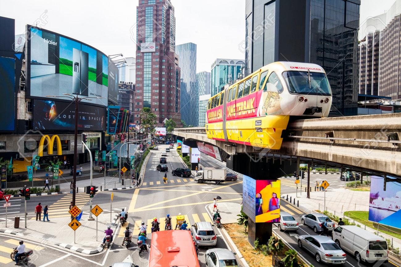 KUALA LUMPUR, MALAYSIA - 19 April 2018: Bukit Bintang shopping and entertainment area - 101890328