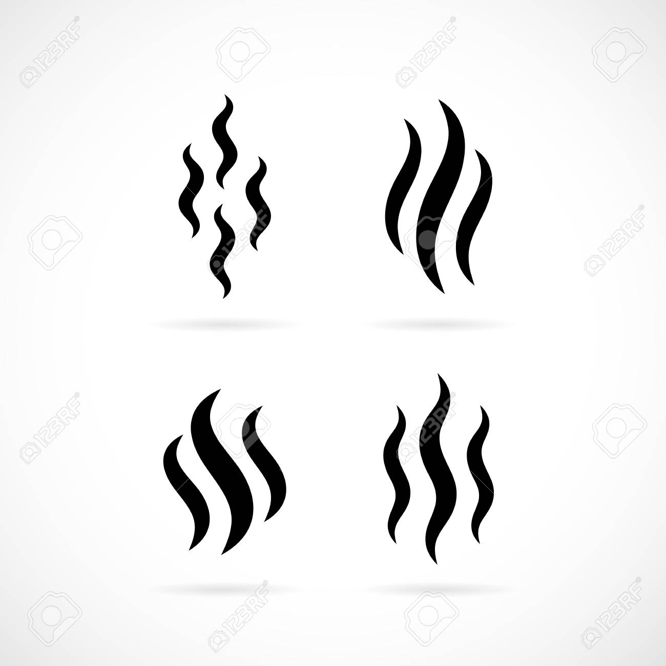 hot smoke vector icon royalty free cliparts vectors and stock rh 123rf com smoke vector free smoke vector video