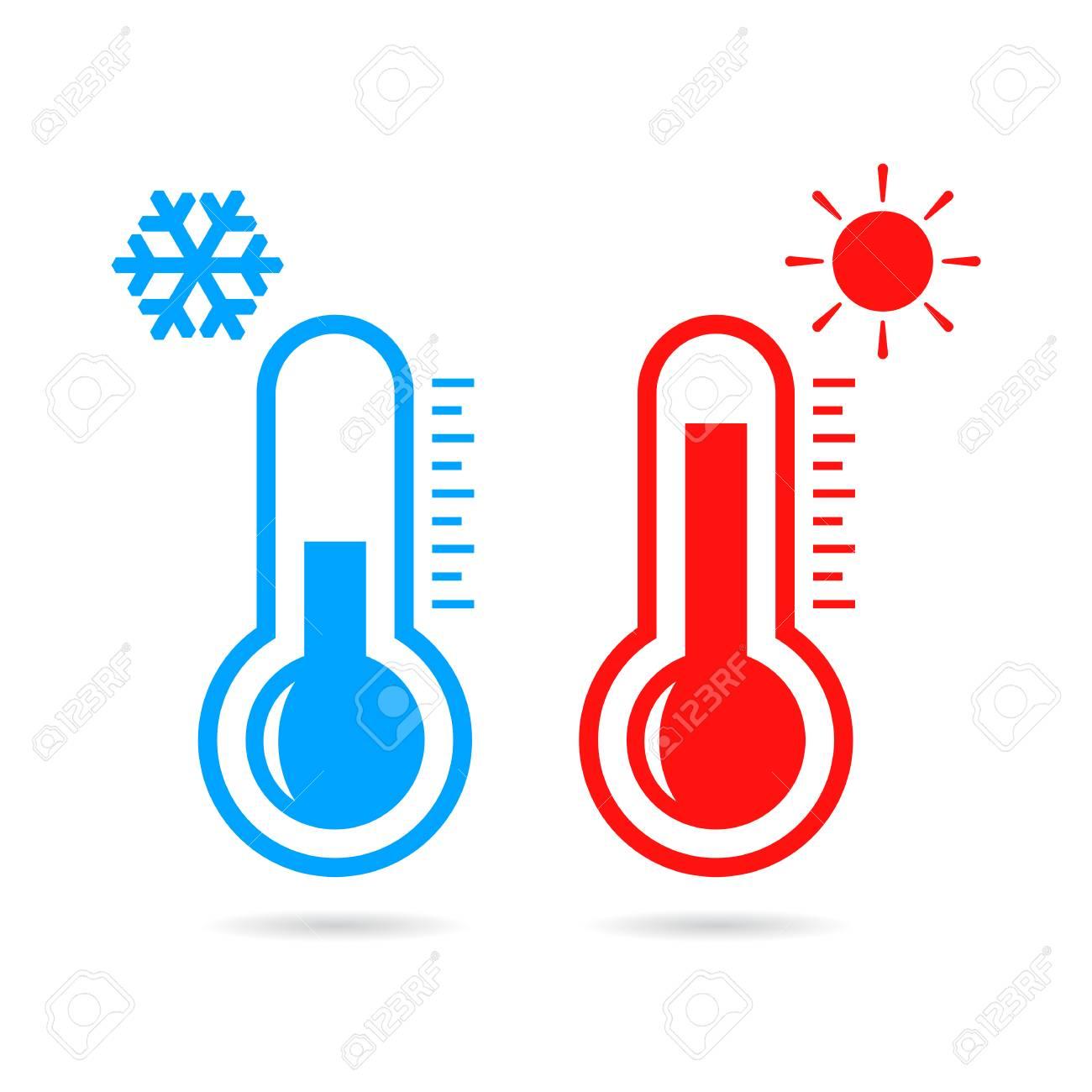Hot and cold temperature vector icon - 106319224