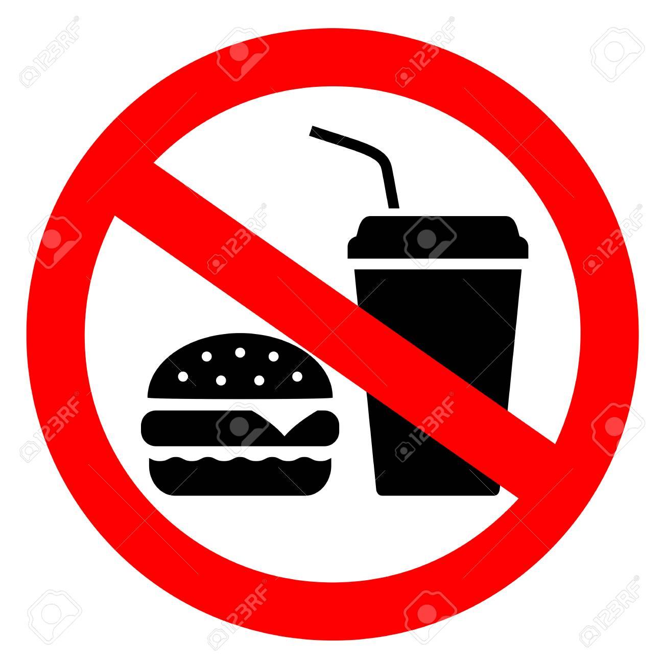No eating vector sign - 106319375