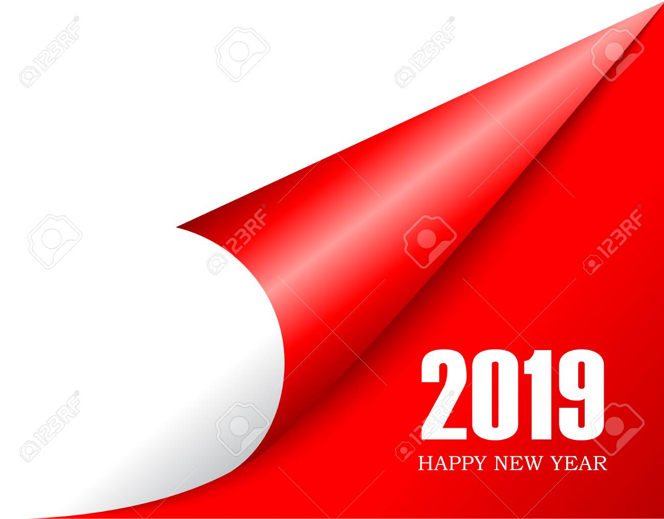 2019 New Year is coming, turn the page - 110375481