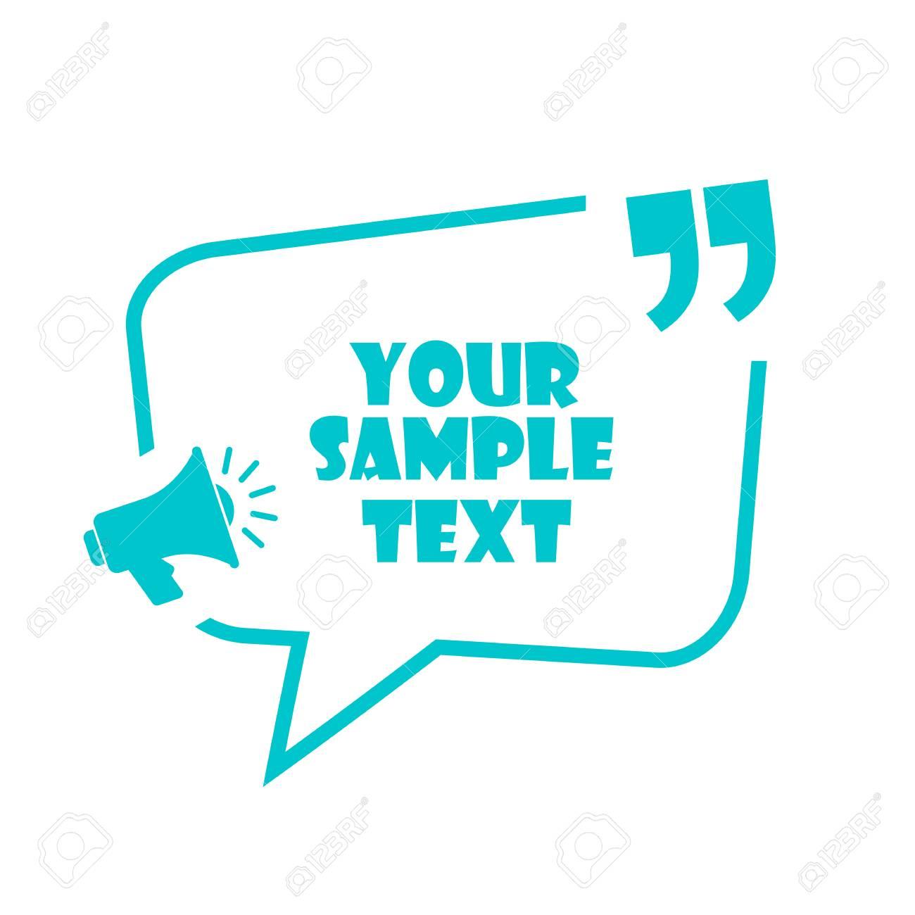 Announce text box vector template - 107692671