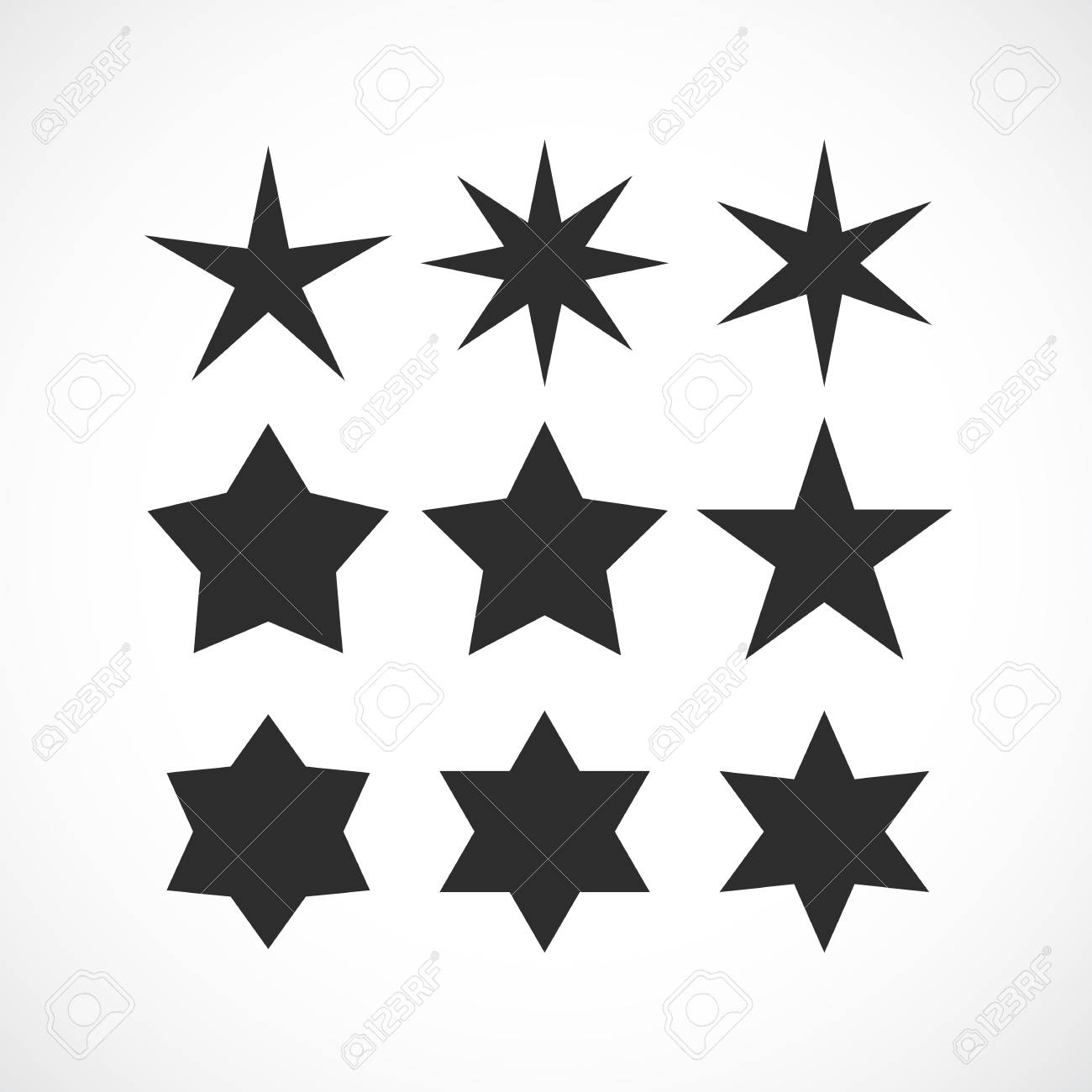 Green Star Basic Simple Shapes Isolated On White Background,.. Royalty Free  Cliparts, Vectors, And Stock Illustration. Image 121202509.