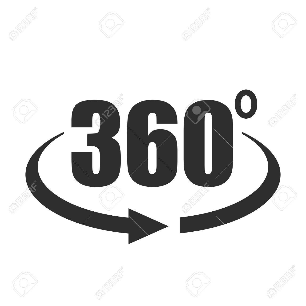 360 degree view vector icon - 114352483