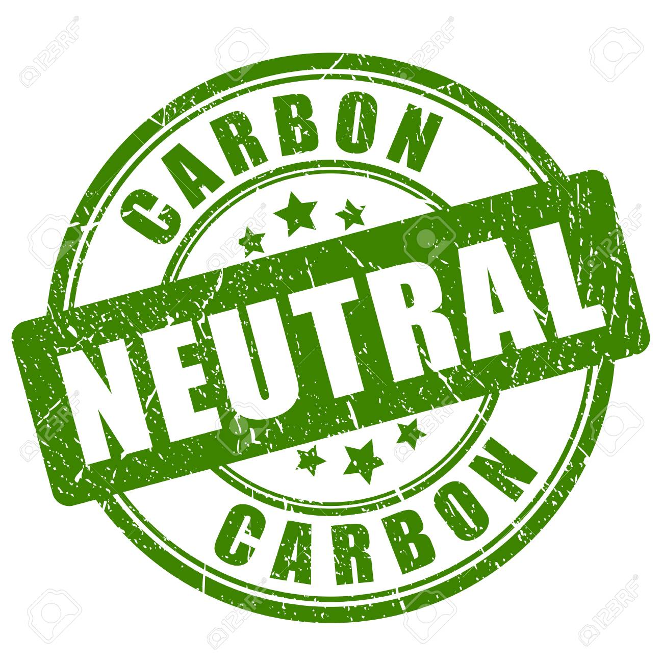 Carbon neutral green stamp - 114352488
