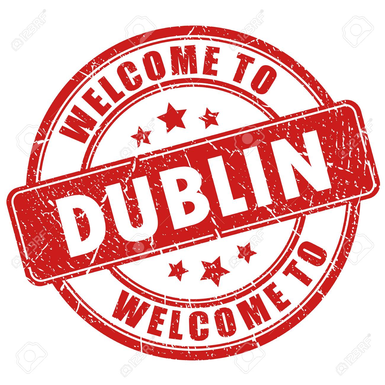 Welcome to Dublin vector stamp isolated on white background - 121012801