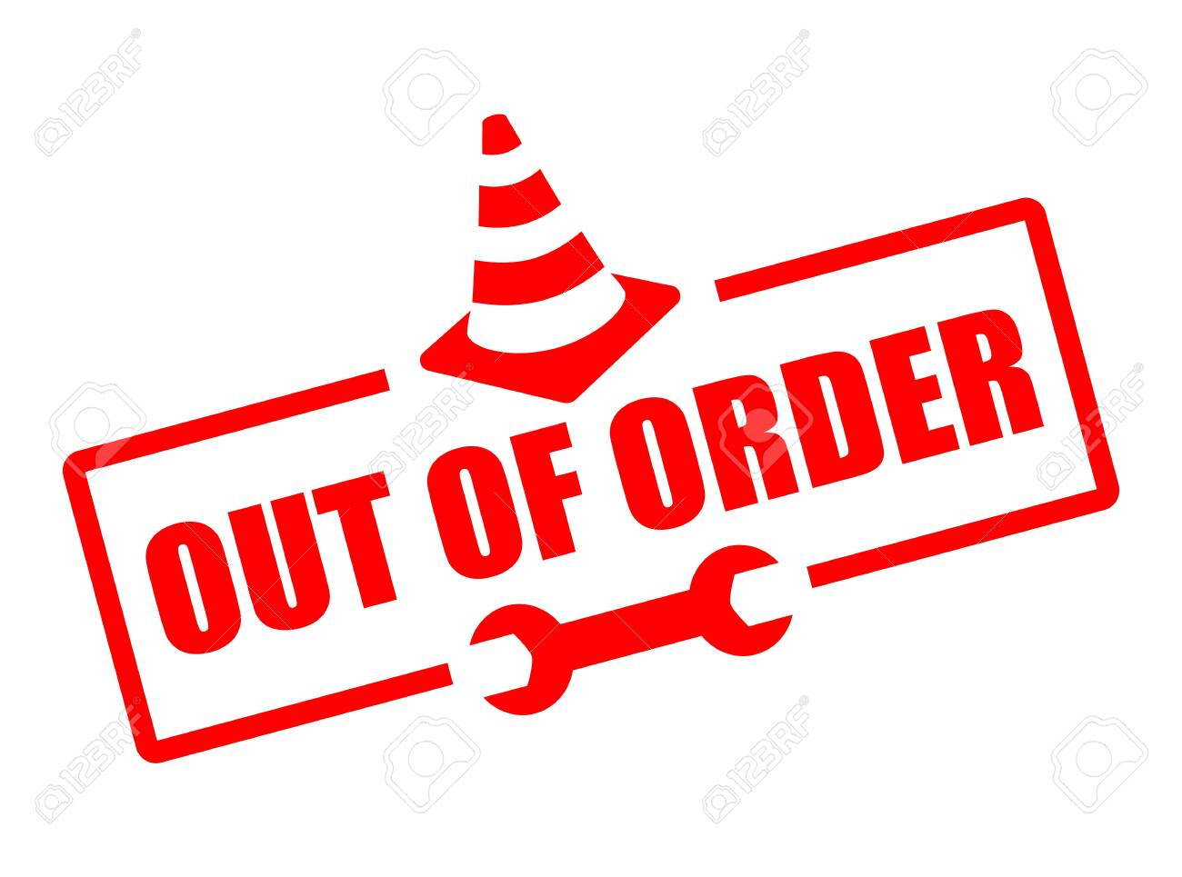 Out of order vector sign isolated on white background - 134169953