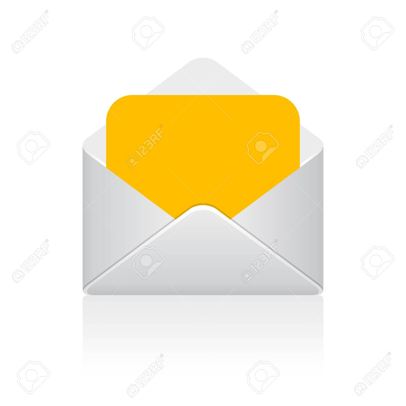 Open envelope letter vector icon isolated on white background - 136988794
