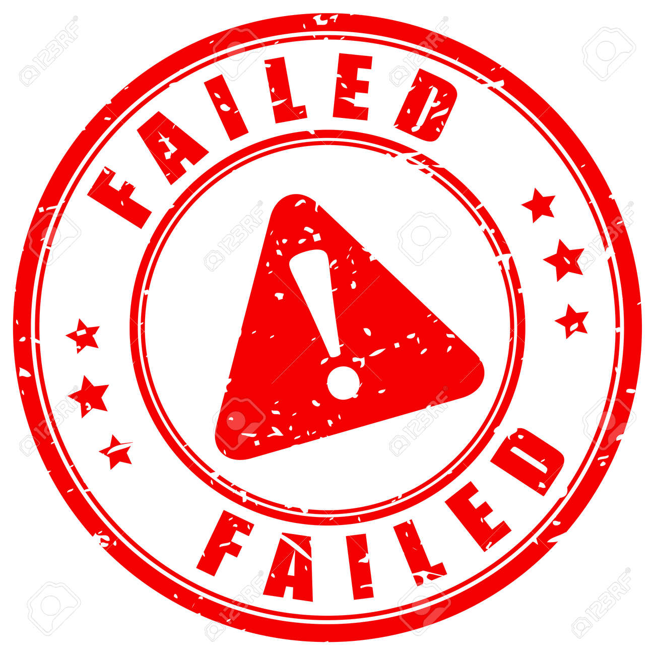 Failed grunge vector stamp isolated on white background - 155220969