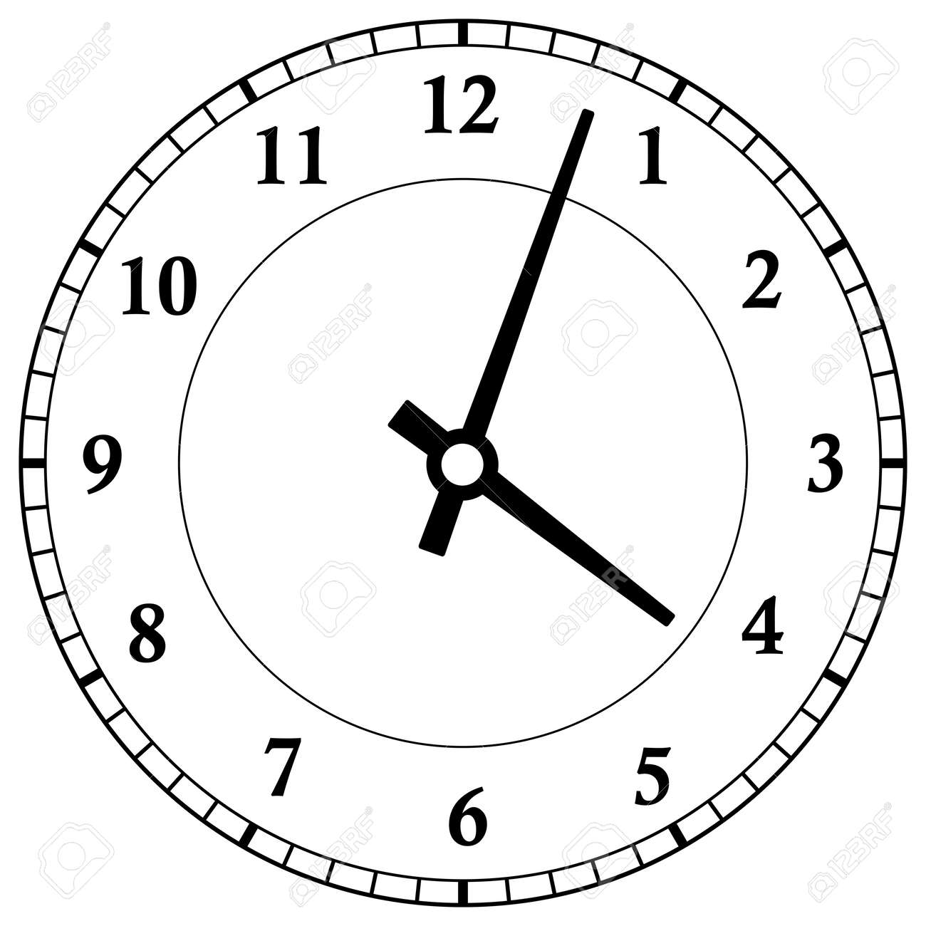Clock dial face vector illustration on white background - 158530993