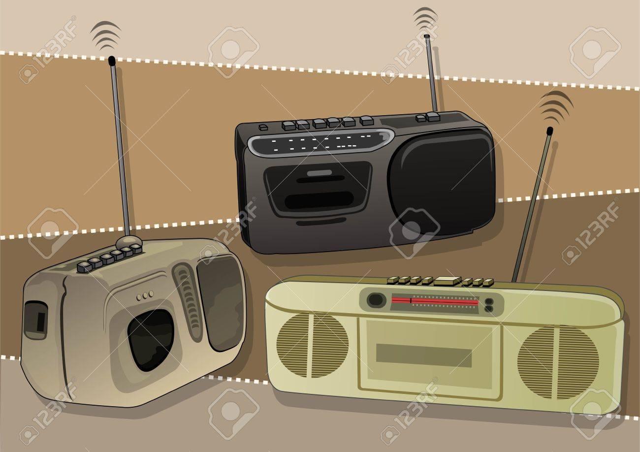 classical radio Stock Vector - 21509745
