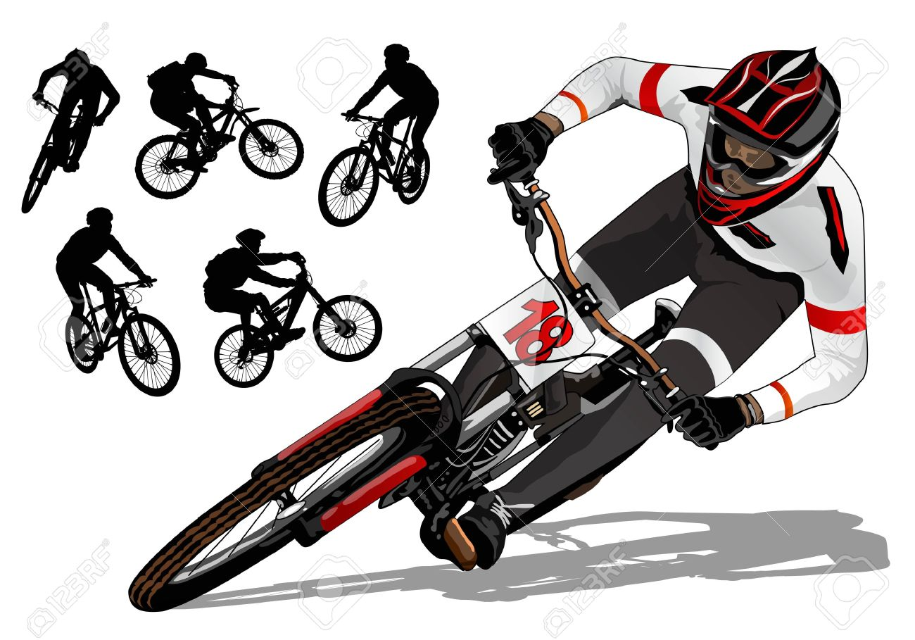 Mountain Bike Active Royalty Free Cliparts Vectors And Stock