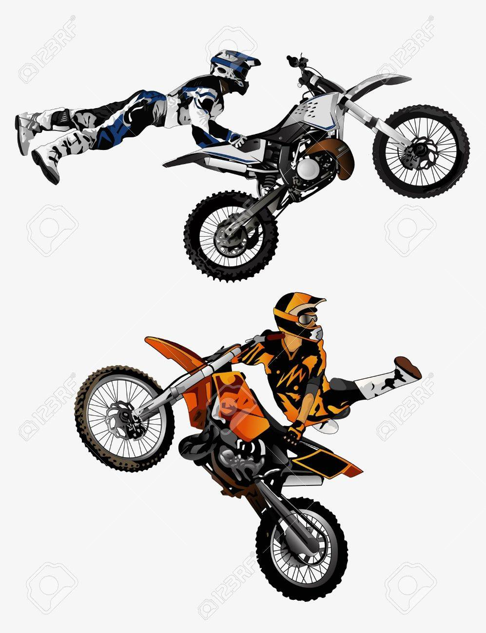 flying extreme cross Stock Vector - 22225676