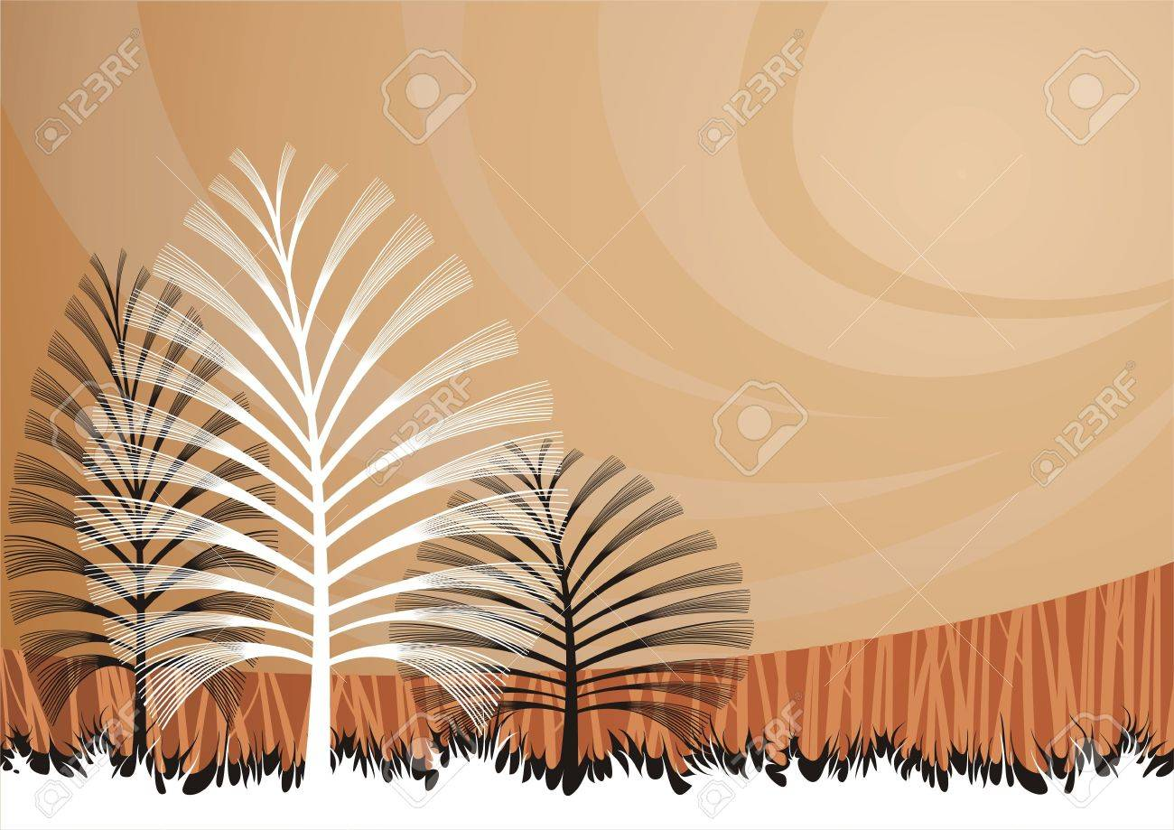 background with artistic trees. Stock Vector - 6697905