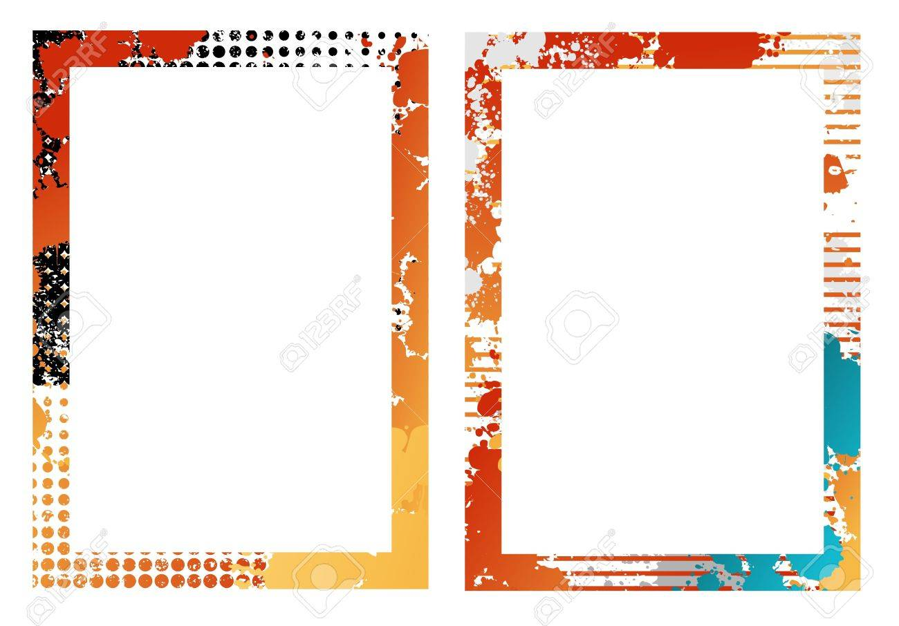 two isolated creative design frames stock vector 7315736
