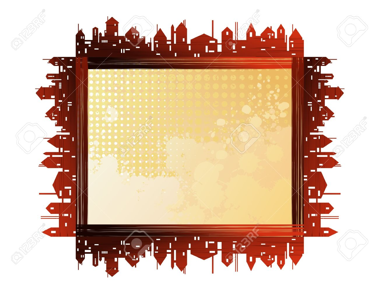 City Theme Creative Vector Frames Royalty Free Cliparts, Vectors ...