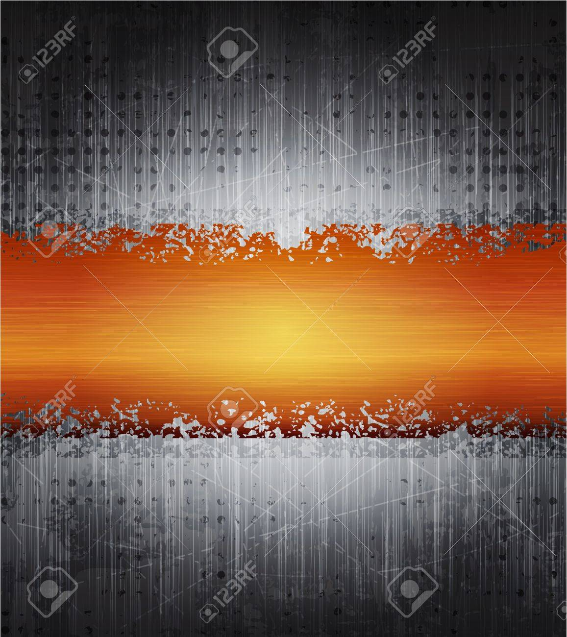 vector banner with brushed metal texture. Eps10 Stock Vector - 9342885