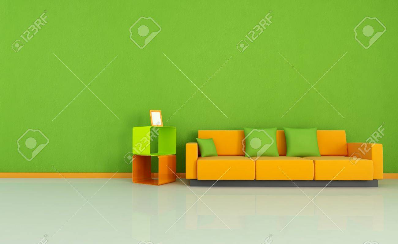Green And Orange Living Room Stock Photo   4303813 Part 40